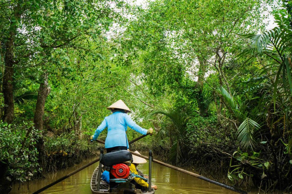 Balade en bateau sur le delta du Mekong