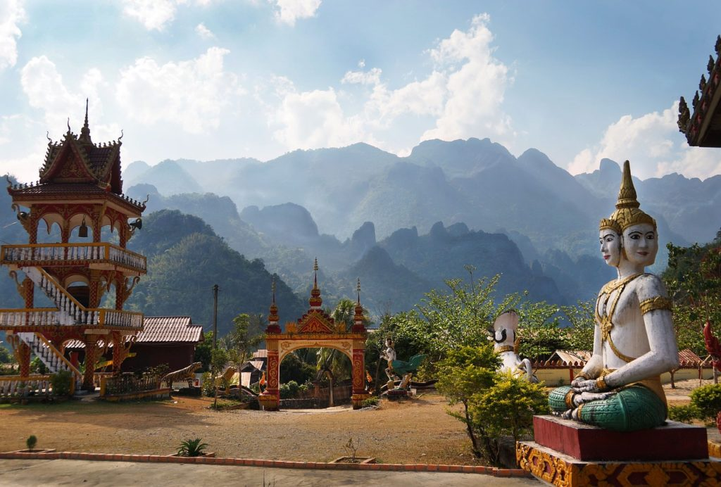 Un temple bouddhisme au Laos